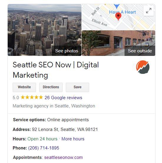 GMB (Google My Business):